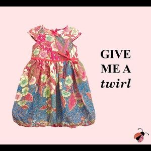 Pink Blue Toddler Dress